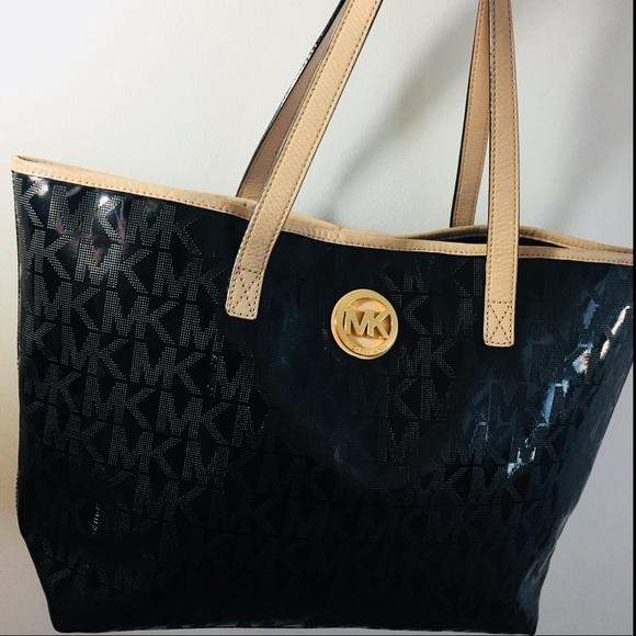 1cf921d97b Michael Kors Tote Bag MK Signature Mirror Metallic.  M_5b7df4741070ee4a9e89af5d